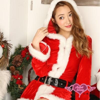 耶誕服 經典歡樂 長袖聖誕舞會角色扮演服(紅F)  AngelHoney天使霓裳