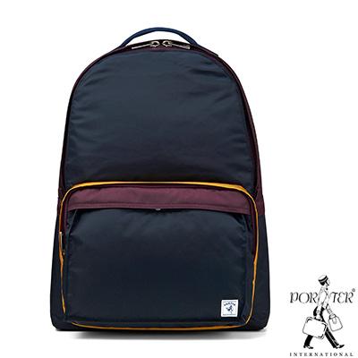 PORTER-放色時尚PLAY簡約休閒後背包-M-深藍-紫
