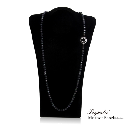 大東山珠寶  南洋貝寶珠 8mm 多層次變化長版項鍊 魅力黑