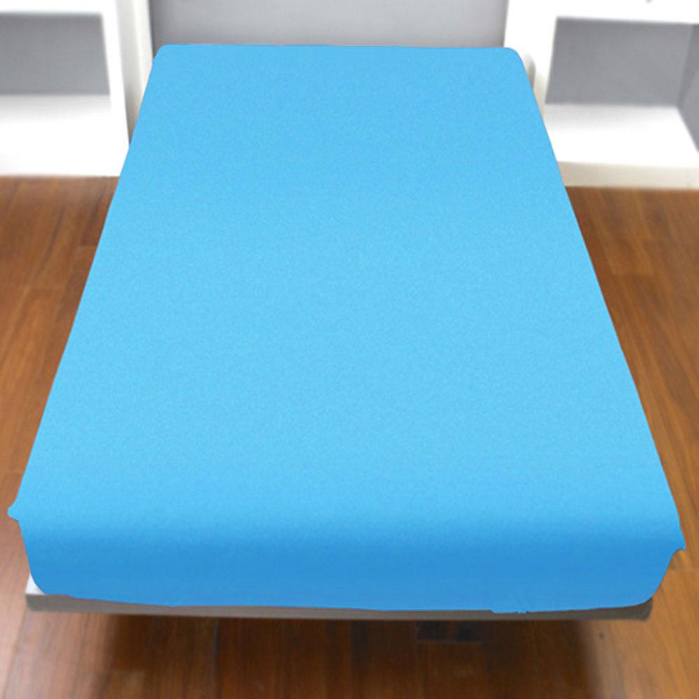 Yvonne Collection加大純棉床包-中藍
