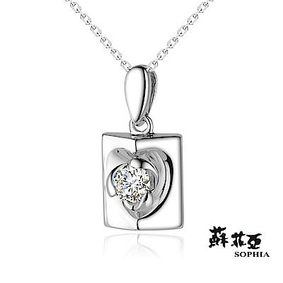 蘇菲亞SOPHIA 鑽鍊-愛戀滿屋0.10克拉鑽石項鍊