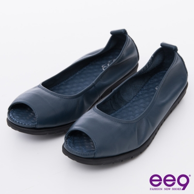 ee9芯滿益足-都會優雅百搭超柔軟露趾平底魚口鞋