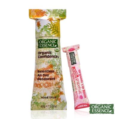 Organic Essence 美國環保體香膏 有機木香 贈護唇膏