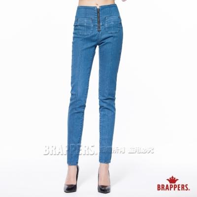 BRAPPERS 女款 新美尻Royal系列-女用高腰彈性窄管褲-淺藍