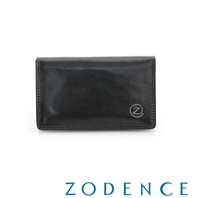 ZODENCE MAN 義大利植鞣革系列原色經典名片夾 黑