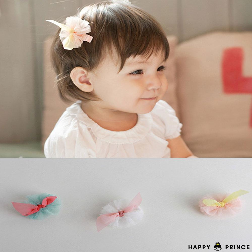 韓國 Happy Prince 蕾絲花朵綁帶小髮夾