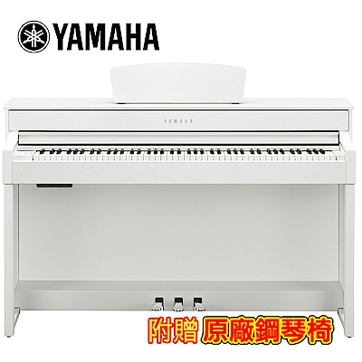 YAMAHA CLP-535 WH 88鍵標準數位電鋼琴 典雅白色款