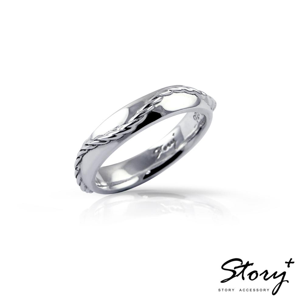 STORY故事銀飾-戀愛-純銀定情對戒-女戒
