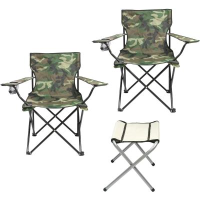迷彩輕量導演椅x2-摺疊四角凳x1