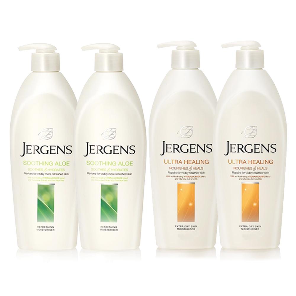 JERGENS珍柔 美體護膚保濕乳液650ml-蘆薈x2+長效配方x2