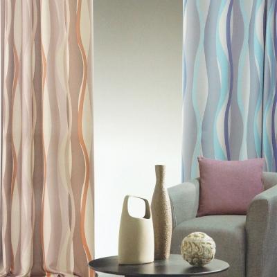 布安於室-曲線穿管式單層遮光窗簾-落地窗(寬200x高165cm)