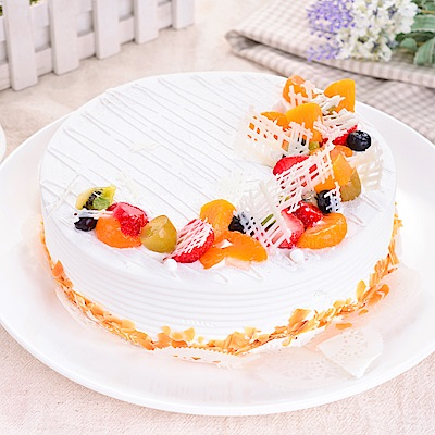 樂活e棧 生日快樂造型蛋糕-典藏白之翼 蛋糕(8吋/顆,共1顆)