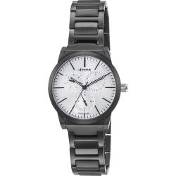 LICORNE 力抗錶 雙子系列三眼女錶-黑x白面/38mm