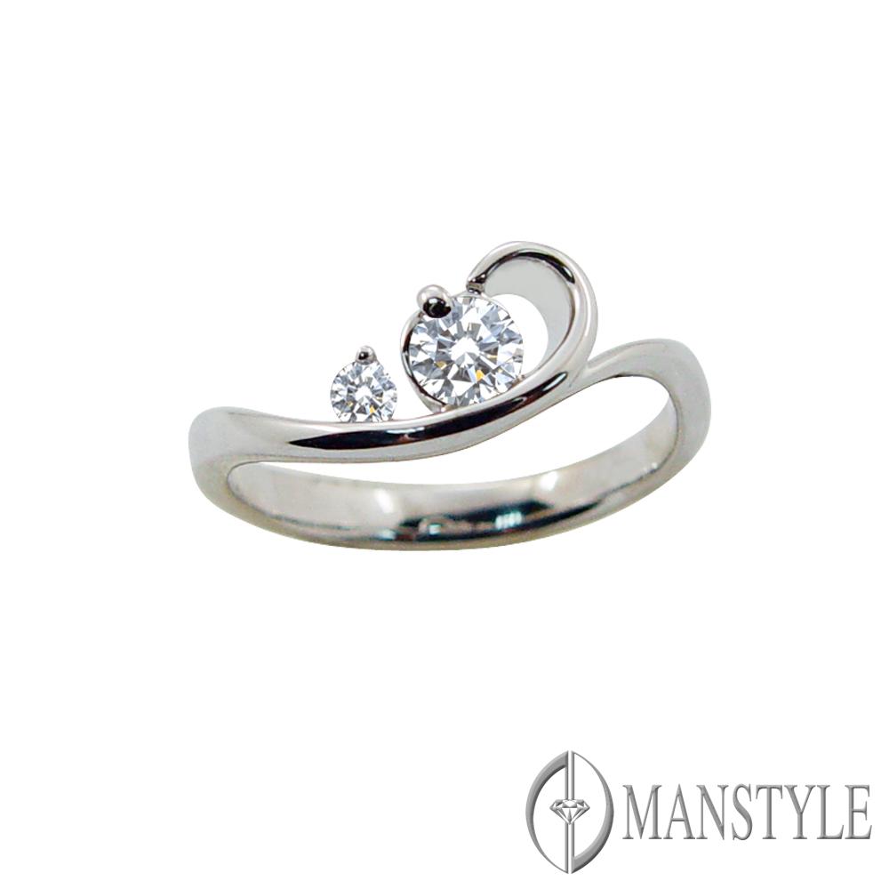 MANSTYLE 俏女人0.25ct 八心八箭鑽石戒指