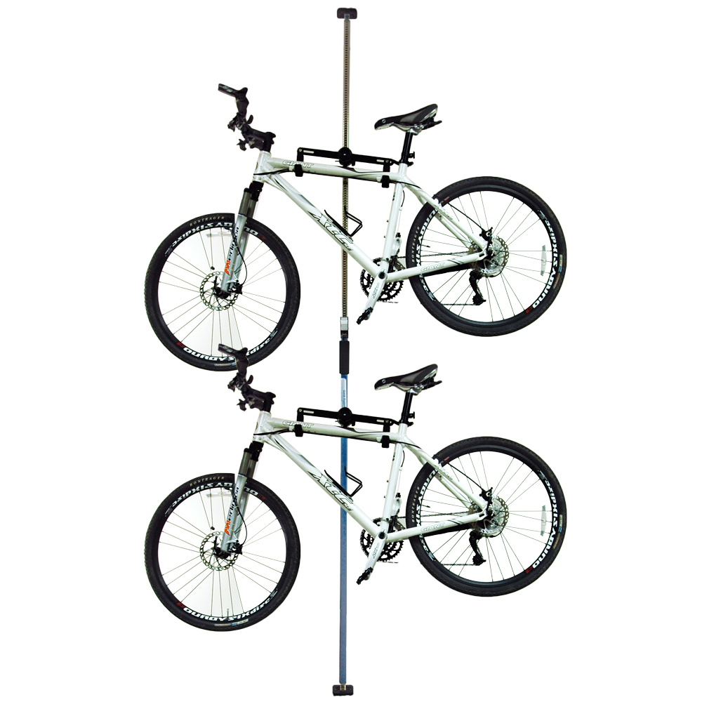 台灣製造  第二代頂天立地自行車立車架 車桿 吊車柱 停車架 (藍)