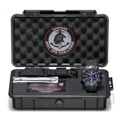 LUMINOX 雷明時 特種部隊限量工具箱禮盒組-藍x灰時標/45mm