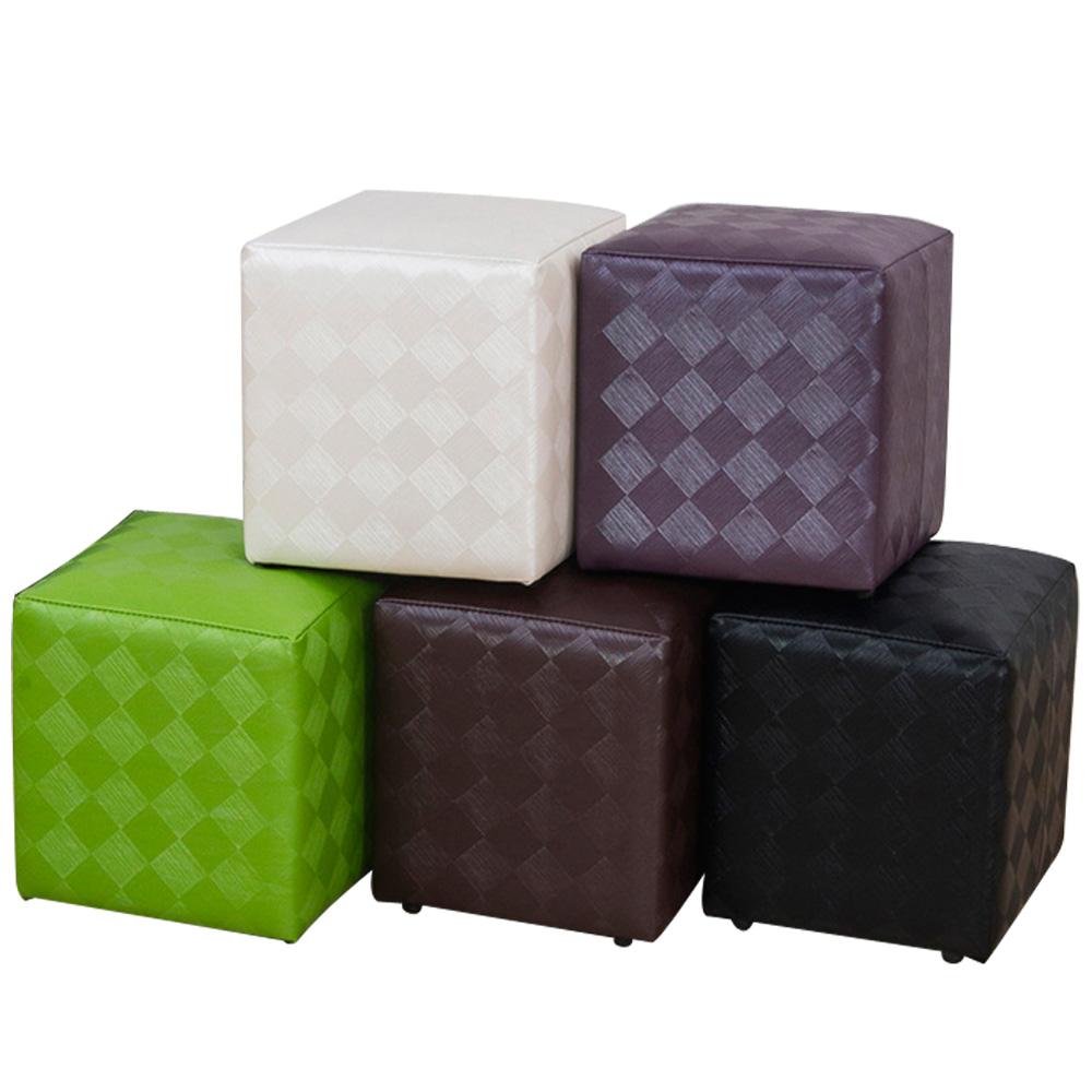 菱格紋四方椅/沙發凳(5色)