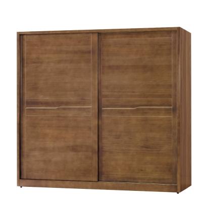 品家居 馬可 7 尺實木推門衣櫃- 212 x 60 . 5 x 197 cm-免組