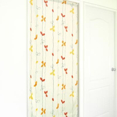 布安於室-落葉遮光風水簾-米色底