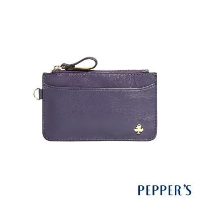 PEPPER`S  Ellie 羊皮鑰匙卡夾包 - 葡萄紫