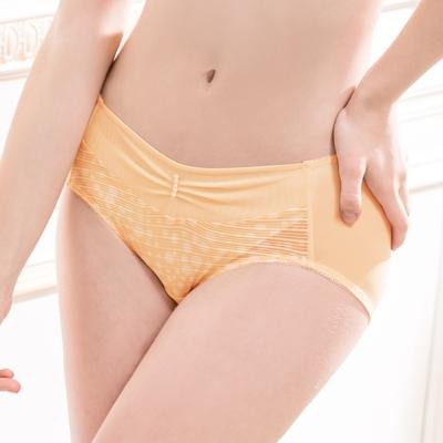 可蘭霓Clany 迷濛優雅點點M-XL內褲 甜美橙