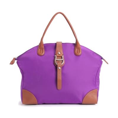 AIGNER PICO系列 素色尼龍提包-亮紫