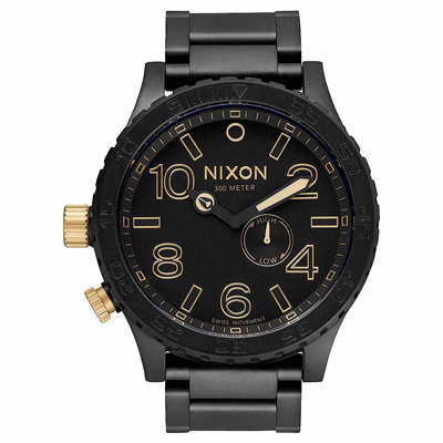 NIXON The 51-30超越潛能運動腕錶(鋼帶/金)-51mm
