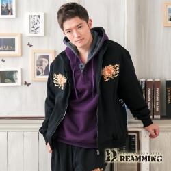 Dreamming 日系加絨Dragon立領棉質刷毛外套-共二色