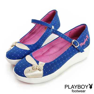 PLAYBOY-不凡品味-GOPLAY點點楔型鞋