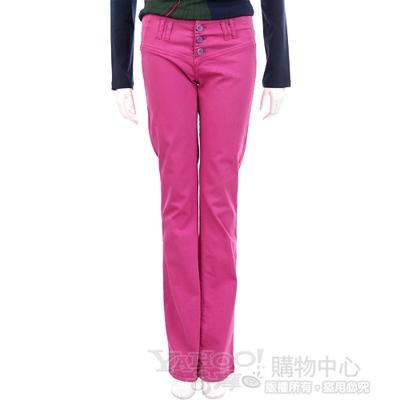 YES LONDON 紫桃色三釦設計休閒長褲