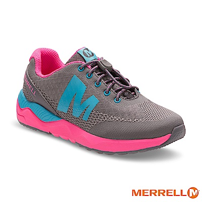 MERRELL VERSENT 野跑童鞋-灰粉(57388)