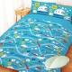 享夢城堡 精梳棉搖粒暖被 雙人5x6.5 新幹線 鐵道樂園-藍 product thumbnail 1