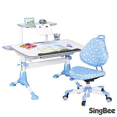 SingBee欣美 小哈佛桌椅組(送60CM上層書架)-105x75x60cm