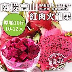 【天天果園】台灣高山紅肉火龍果原裝箱10斤(約10-12顆/箱)