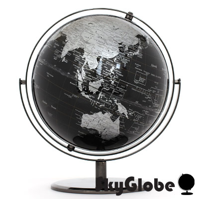 SkyGlobe 10吋精緻黑色360度旋轉地球儀(英文版)