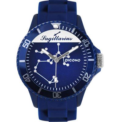 PICONO 星座系列休閒腕錶-射手座x藍/48mm