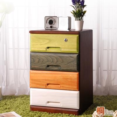 桐趣-木。工房4抽實木收納櫃