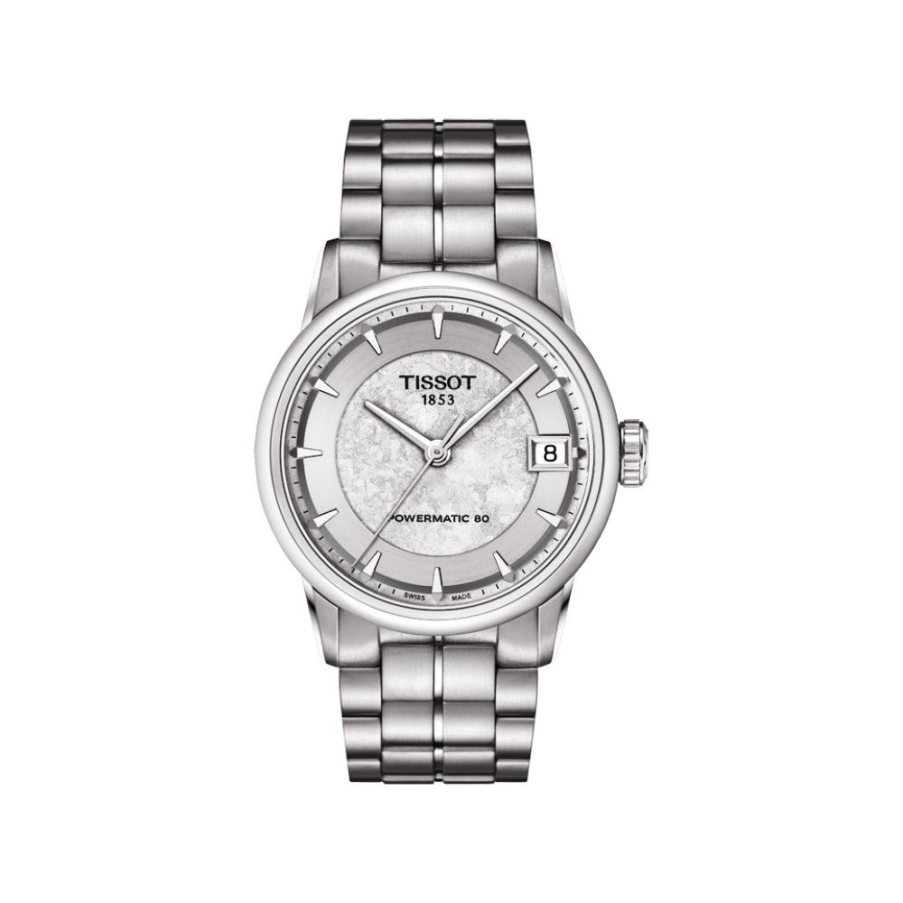 TISSOT LUXURY JUNGFRAUBAHN 特別版機械女錶-銀/33mm