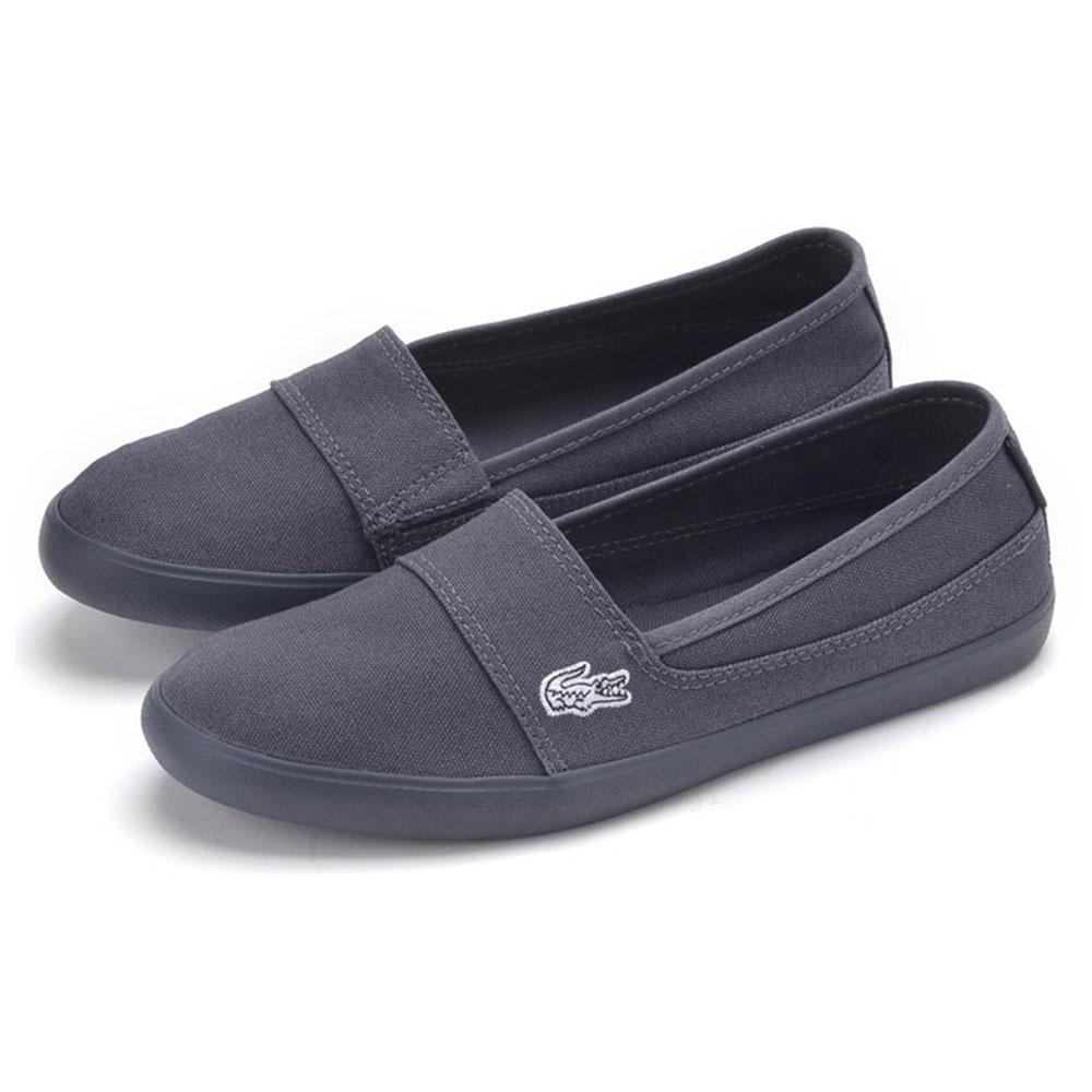 LACOSTE marice 女用休閒帆布懶人鞋-黑色