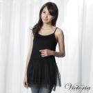 Victoria 雪紡膨膨紗背心-女-黑色
