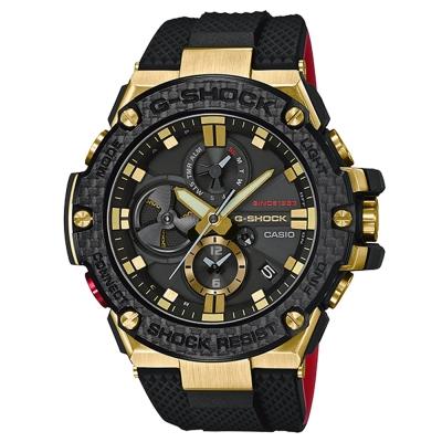 G-SHOCK35周年第二波紀念款-閃金紅黑撞色碳纖維藍芽錶(GST-B100TFB)53