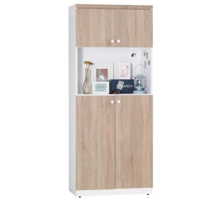 品家居 特里莎2.6尺高鞋櫃(兩色可選)-78.5x38.5x192cm-免組