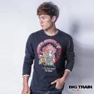 BIG TRAIN 家將虎爺二代長袖T-男-深藍