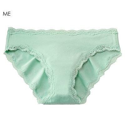 aimerfeel 淑女素面蕾絲無痕內褲-蜜瓜綠