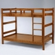 Homelike-莫爾3-5尺雙層床-淺胡桃色