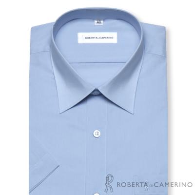 ROBERTA諾貝達 台灣製 魅力首選  條紋短袖襯衫 藍色
