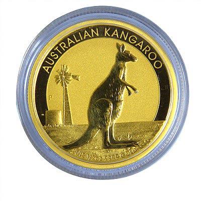 澳洲袋鼠金幣-1/2盎司(OZ)