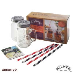 KILNER 把手玻璃對杯組 400ml(8H)
