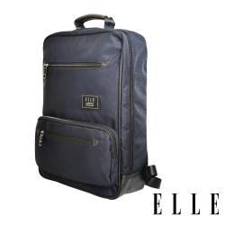 ELLE 城市都會休旅系列-大容量多隔層收納13吋休閒後背包-深藍 EL83911