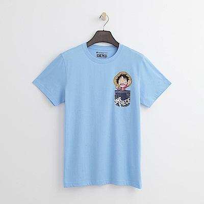 Hang Ten - 男裝 - ONE PIECE口袋印圖T恤-藍色